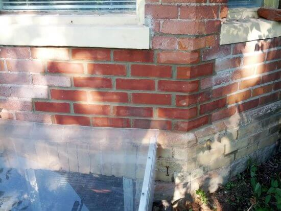 after brick replacement