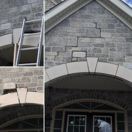 repair of a front stone archway